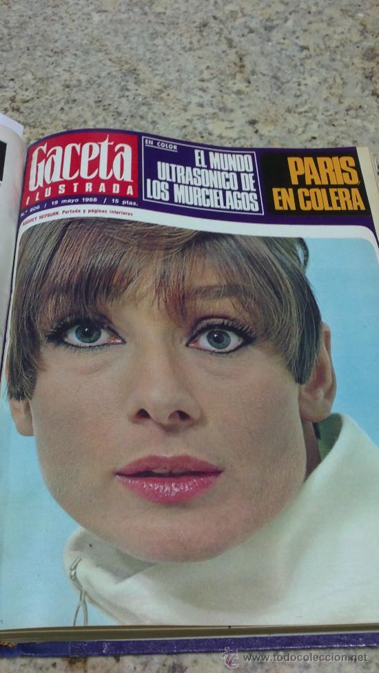 Coleccionismo de Revista Gaceta Ilustrada: MAGNIFICO,LOTE:Revista GACETA ILUSTRADA nº 600-AL-612-(7-4/30-6-1968)ENCUADERNADO-VER FOTOS- - Foto 17 - 33108827