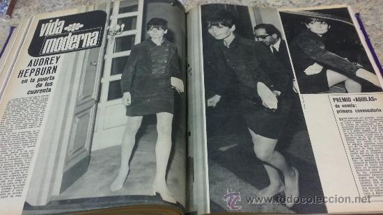 Coleccionismo de Revista Gaceta Ilustrada: MAGNIFICO,LOTE:Revista GACETA ILUSTRADA nº 600-AL-612-(7-4/30-6-1968)ENCUADERNADO-VER FOTOS- - Foto 19 - 33108827