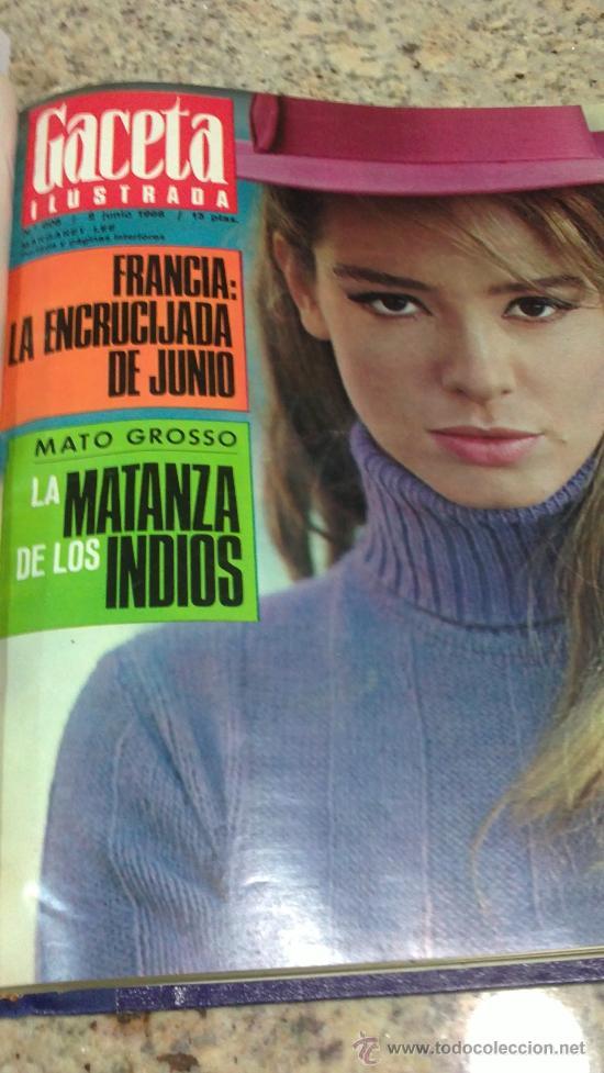 Coleccionismo de Revista Gaceta Ilustrada: MAGNIFICO,LOTE:Revista GACETA ILUSTRADA nº 600-AL-612-(7-4/30-6-1968)ENCUADERNADO-VER FOTOS- - Foto 22 - 33108827