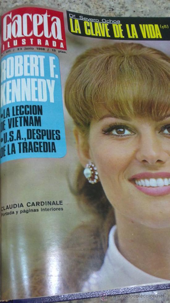 Coleccionismo de Revista Gaceta Ilustrada: MAGNIFICO,LOTE:Revista GACETA ILUSTRADA nº 600-AL-612-(7-4/30-6-1968)ENCUADERNADO-VER FOTOS- - Foto 28 - 33108827