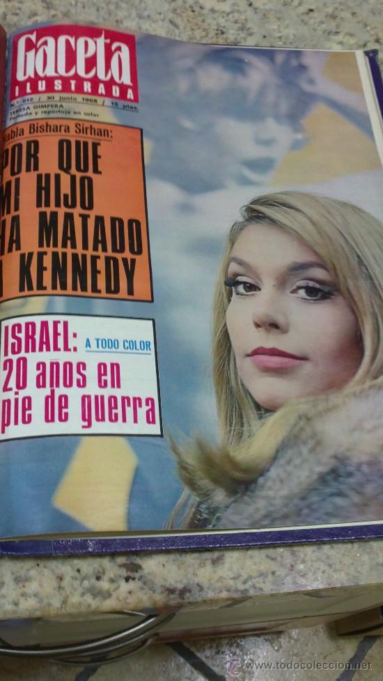 Coleccionismo de Revista Gaceta Ilustrada: MAGNIFICO,LOTE:Revista GACETA ILUSTRADA nº 600-AL-612-(7-4/30-6-1968)ENCUADERNADO-VER FOTOS- - Foto 29 - 33108827
