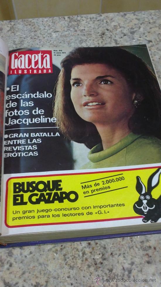 Coleccionismo de Revista Gaceta Ilustrada: MAGNIFICO,LOTE:Revista GACETA ILUSTRADA nº 848-AL-859-(7-1/9-3-1973)ENCUADERNADO-VER FOTOS - Foto 3 - 33109441