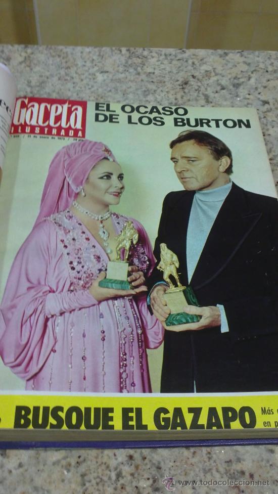 Coleccionismo de Revista Gaceta Ilustrada: MAGNIFICO,LOTE:Revista GACETA ILUSTRADA nº 848-AL-859-(7-1/9-3-1973)ENCUADERNADO-VER FOTOS - Foto 6 - 33109441