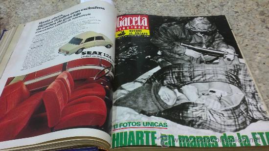 Coleccionismo de Revista Gaceta Ilustrada: MAGNIFICO,LOTE:Revista GACETA ILUSTRADA nº 848-AL-859-(7-1/9-3-1973)ENCUADERNADO-VER FOTOS - Foto 9 - 33109441