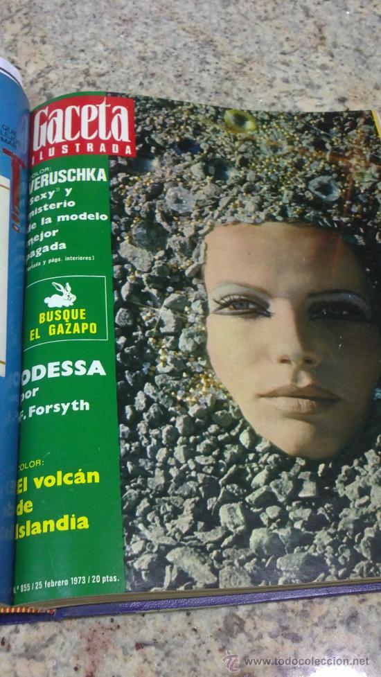 Coleccionismo de Revista Gaceta Ilustrada: MAGNIFICO,LOTE:Revista GACETA ILUSTRADA nº 848-AL-859-(7-1/9-3-1973)ENCUADERNADO-VER FOTOS - Foto 12 - 33109441
