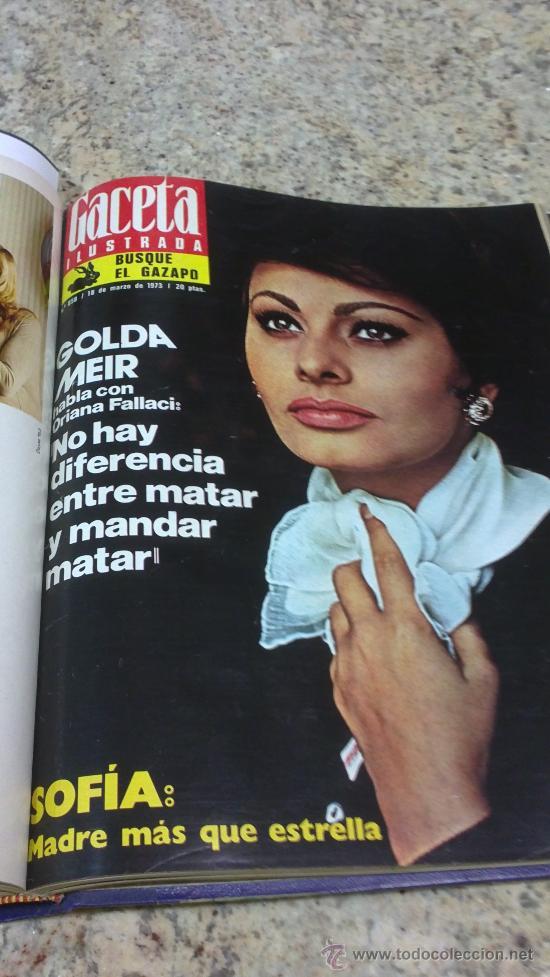 Coleccionismo de Revista Gaceta Ilustrada: MAGNIFICO,LOTE:Revista GACETA ILUSTRADA nº 848-AL-859-(7-1/9-3-1973)ENCUADERNADO-VER FOTOS - Foto 15 - 33109441