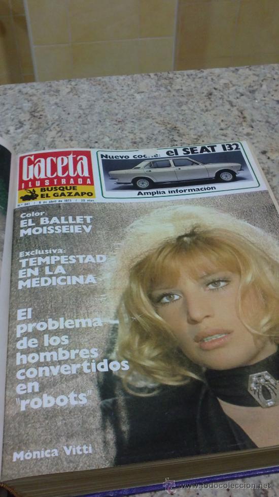 Coleccionismo de Revista Gaceta Ilustrada: MAGNIFICO,LOTE:Revista GACETA ILUSTRADA nº 860-AL-872-(1-4/24-6-1973)ENCUADERNADO-VER FOTOS - Foto 5 - 33109684