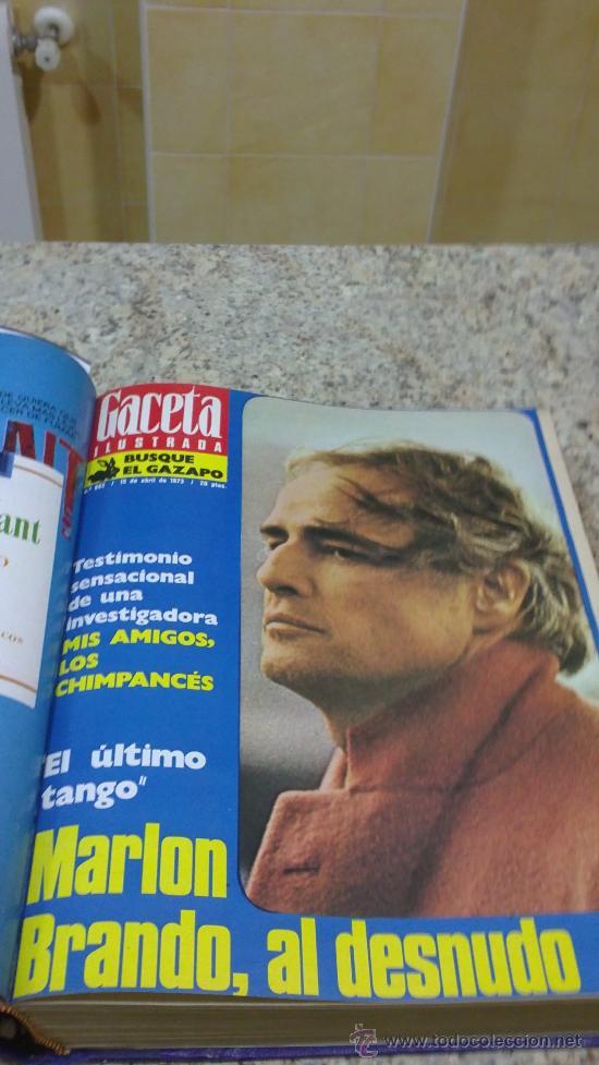 Coleccionismo de Revista Gaceta Ilustrada: MAGNIFICO,LOTE:Revista GACETA ILUSTRADA nº 860-AL-872-(1-4/24-6-1973)ENCUADERNADO-VER FOTOS - Foto 6 - 33109684