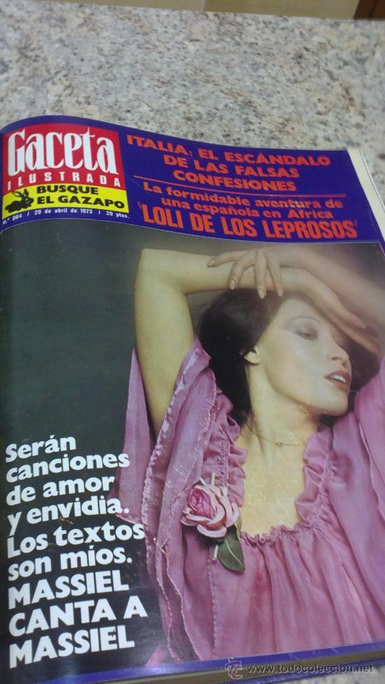 Coleccionismo de Revista Gaceta Ilustrada: MAGNIFICO,LOTE:Revista GACETA ILUSTRADA nº 860-AL-872-(1-4/24-6-1973)ENCUADERNADO-VER FOTOS - Foto 8 - 33109684