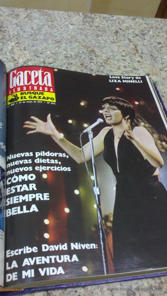 Coleccionismo de Revista Gaceta Ilustrada: MAGNIFICO,LOTE:Revista GACETA ILUSTRADA nº 860-AL-872-(1-4/24-6-1973)ENCUADERNADO-VER FOTOS - Foto 12 - 33109684