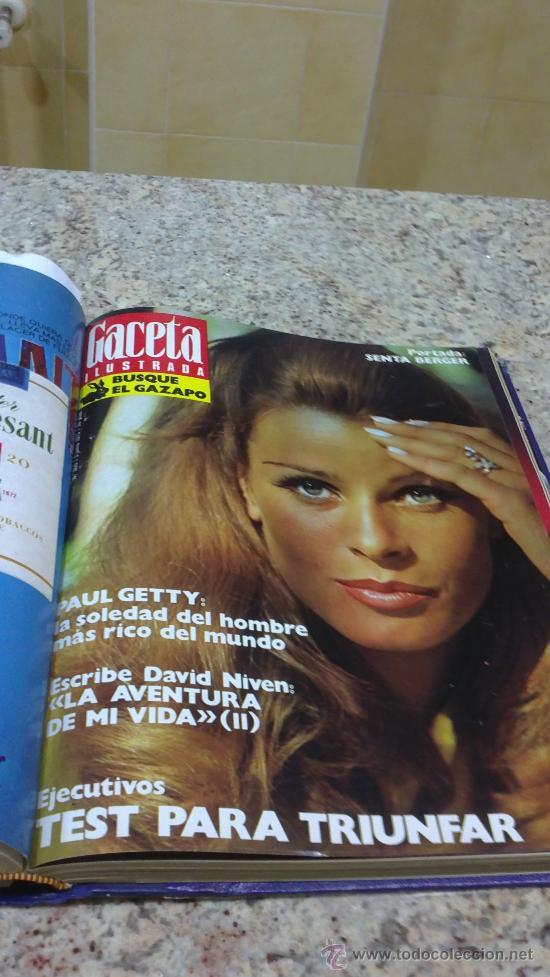 Coleccionismo de Revista Gaceta Ilustrada: MAGNIFICO,LOTE:Revista GACETA ILUSTRADA nº 860-AL-872-(1-4/24-6-1973)ENCUADERNADO-VER FOTOS - Foto 13 - 33109684