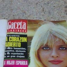 Coleccionismo de Revista Gaceta Ilustrada: MAGNIFICO,LOTE:REVISTA GACETA ILUSTRADA Nº 600-AL-612-(7-4/30-6-1968)ENCUADERNADO-VER FOTOS-. Lote 33108827