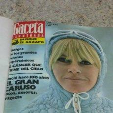 Coleccionismo de Revista Gaceta Ilustrada: MAGNIFICO,LOTE:REVISTA GACETA ILUSTRADA Nº 860-AL-872-(1-4/24-6-1973)ENCUADERNADO-VER FOTOS. Lote 33109684