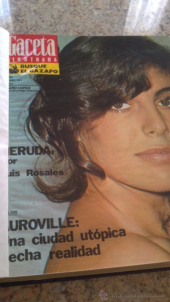 Coleccionismo de Revista Gaceta Ilustrada: MAGNIFICO,LOTE:Revista GACETA ILUSTRADA nº 887-AL-899-(1-10/30-12-1973)ENCUADERNADO-VER FOTOS - - Foto 19 - 33109935
