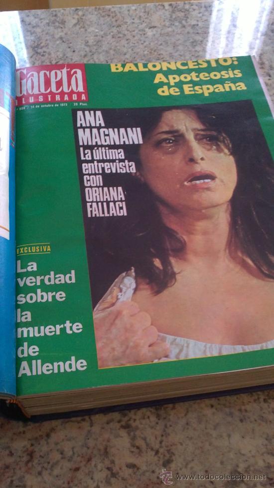 Coleccionismo de Revista Gaceta Ilustrada: MAGNIFICO,LOTE:Revista GACETA ILUSTRADA nº 887-AL-899-(1-10/30-12-1973)ENCUADERNADO-VER FOTOS - - Foto 18 - 33109935