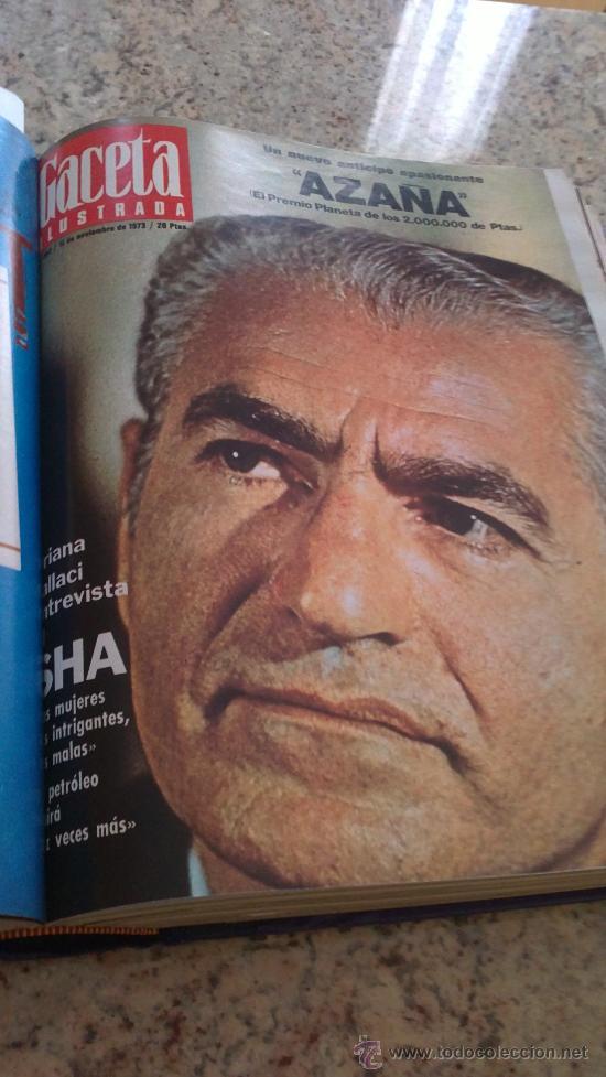 Coleccionismo de Revista Gaceta Ilustrada: MAGNIFICO,LOTE:Revista GACETA ILUSTRADA nº 887-AL-899-(1-10/30-12-1973)ENCUADERNADO-VER FOTOS - - Foto 12 - 33109935