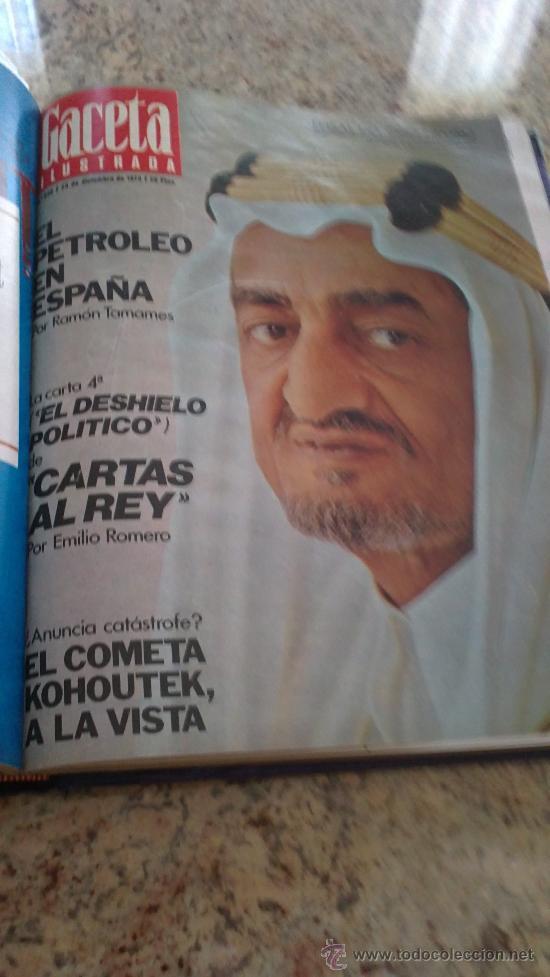 Coleccionismo de Revista Gaceta Ilustrada: MAGNIFICO,LOTE:Revista GACETA ILUSTRADA nº 887-AL-899-(1-10/30-12-1973)ENCUADERNADO-VER FOTOS - - Foto 3 - 33109935