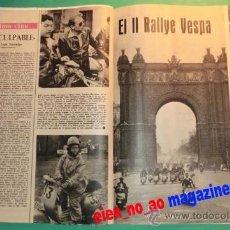 Coleccionismo de Revista Gaceta Ilustrada: II PRUEBA DE REGULARIDAD VESPA ~ 2 HOJAS DE REVISTA ~ 1959. Lote 33611025