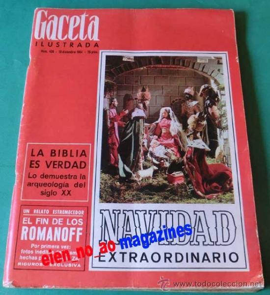 GACETA ILUSTRADA Nº 428/1964 EXTRA NAVIDAD 220 PAG ~LINDA BAKER~RITA PAVONE~LLEIDA~MATA HARI (Coleccionismo - Revistas y Periódicos Modernos (a partir de 1.940) - Revista Gaceta Ilustrada)