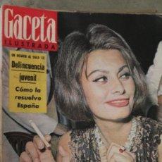 Coleccionismo de Revista Gaceta Ilustrada: GACETA ILUSTRADA - 1-12-1962 SOFIA LOREN. Lote 34586127
