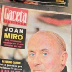 Coleccionismo de Revista Gaceta Ilustrada: GACETA ILUSTRADA - 2-6-1962 JOAN MIRO. Lote 34587309