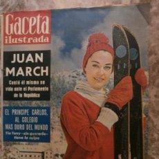 Collectionnisme de Magazine Gaceta Ilustrada: GACETA ILUSTRADA. Nº284.1962. ANALIA GADE, L.M.NARVAEZ, F.FRANCO, L.M.DOMINGUIN, EL PRINCIPE CARLOS,. Lote 35855896