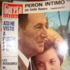 Coleccionismo de Revista Gaceta Ilustrada: GACETA ILUSTRADA AÑO 74 Nº 927/PERON/AGNELLI/ SECUESTRO Y LIBERACIÓN GETTY. Lote 36182629