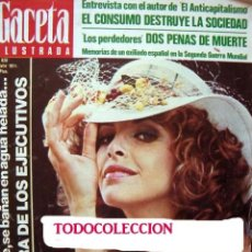 Coleccionismo de Revista Gaceta Ilustrada: REVISTA GACETA ILUSTRADA 1974 / ELIZABETH TAYLOR, RICHARD BURTON, SYDNE ROME. Lote 36954811