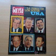 Coleccionismo de Revista Gaceta Ilustrada: REVISTA GACETA ILUSTRADA - PRESIDENTES NIXON, REAGAN, ROCKEFELLER - BRIGITTE BARDOT. Lote 37486409