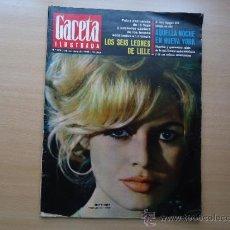 Coleccionismo de Revista Gaceta Ilustrada: REVISTA GACETA ILUSTRADA - BRIGITTE BARDOT - REINA DE INGLATERRA. Lote 37486539