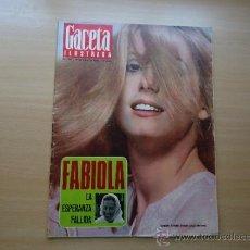 Coleccionismo de Revista Gaceta Ilustrada: REVISTA GACETA ILUSTRADA - CATHERINE DENEUVE - REPORTAJE DE FRANCO -. Lote 37486665