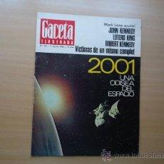 Coleccionismo de Revista Gaceta Ilustrada: REVISTA GACETA ILUSTRADA - TED KENNEDY , LUCÍA BOSÉ , GRETA GARBO- AÑO 1968 . Lote 37795791