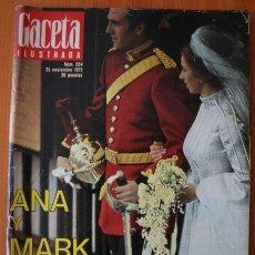 Coleccionismo de Revista Gaceta Ilustrada: GACETA ILUSTRADA 894 1973 - BODA DE ANA Y MARK, KENNEDY, EXTRATERRESTRES ENTRE NOSOTROS TESTIGOS. Lote 37652151