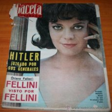 Coleccionismo de Revista Gaceta Ilustrada: GACETA ILUSTRADA 367 19 1963, HITLER, PABLO VI, PIAVE, EDITH PIAF, RIO DEE, GALA SEDA, CARMEN AMAYA. Lote 37711831