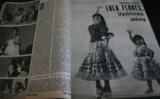 Coleccionismo de Revista Gaceta Ilustrada: GACETA ILUSTRADA 289 13 JULIO 1962, LOLA FLORES, NATI MISTRAL, EICHMANN, TITANIC, PUEBLO TURRIENTES - Foto 2 - 37763442