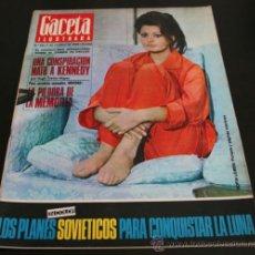 Coleccionismo de Revista Gaceta Ilustrada: GACETA ILUSTRADA 521 1966, UNA CONSPIRACION MATO A KENNEDY, LOS PLANES RUSOS PARA CONQUISTAR LA LUNA. Lote 37763229
