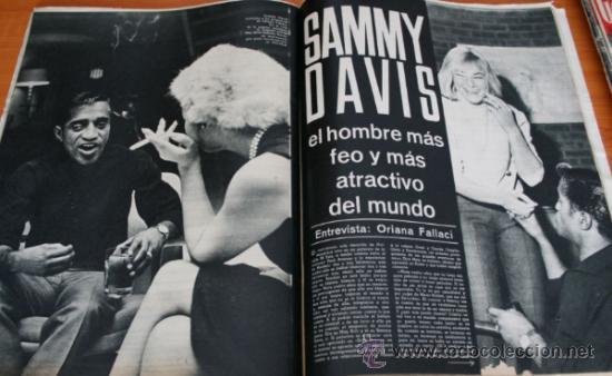 Coleccionismo de Revista Gaceta Ilustrada: GACETA ILUSTRADA 425 1964, HOMBRE BAUL VOLADOR, MARIA CALLAS, MUERE DOROTEA COLMENARES, SAMMY DAVIS - Foto 4 - 37788392