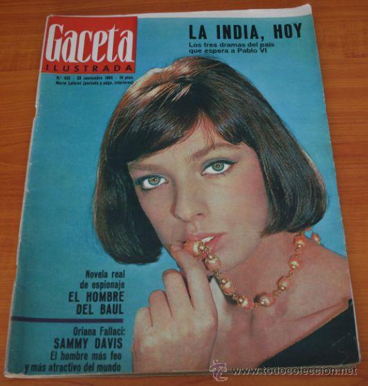 GACETA ILUSTRADA 425 1964, HOMBRE BAUL VOLADOR, MARIA CALLAS, MUERE DOROTEA COLMENARES, SAMMY DAVIS (Coleccionismo - Revistas y Periódicos Modernos (a partir de 1.940) - Revista Gaceta Ilustrada)
