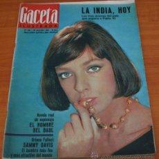 Coleccionismo de Revista Gaceta Ilustrada: GACETA ILUSTRADA 425 1964, HOMBRE BAUL VOLADOR, MARIA CALLAS, MUERE DOROTEA COLMENARES, SAMMY DAVIS. Lote 37788392
