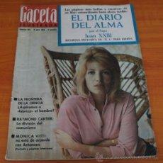 Coleccionismo de Revista Gaceta Ilustrada: GACETA ILUSTRADA 393 1964, DIARIO JUAN XXIII, TORO RADIODIRIGIDO, SHAKESPEARE, MONICA VITTI. Lote 37788655