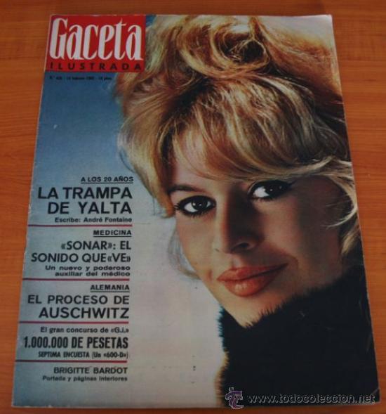 GACETA ILUSTRADA 436 1965, JUICIO AUSCHWIZ, DACHAU, ZURBARAN, INTER DE MILAN, SOFIA LOREN (Coleccionismo - Revistas y Periódicos Modernos (a partir de 1.940) - Revista Gaceta Ilustrada)
