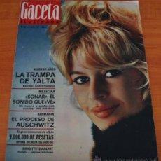 Coleccionismo de Revista Gaceta Ilustrada: GACETA ILUSTRADA 436 1965, JUICIO AUSCHWIZ, DACHAU, ZURBARAN, INTER DE MILAN, SOFIA LOREN. Lote 37795762