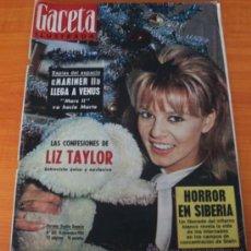 Coleccionismo de Revista Gaceta Ilustrada: GACETA ILUSTRADA 323 1962, MARINER II, LIZ TAILOR, TORERO LUIS MIGUEL, FUNERAL GUILLERMINA D HOLANDA. Lote 37798470