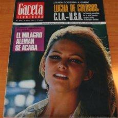 Coleccionismo de Revista Gaceta Ilustrada: GACETA ILUSTRADA 543 1967, LOS ESPAÑOLES EN PARO EN ALEMANIA, CIA, PETER SELLERS. Lote 37820954