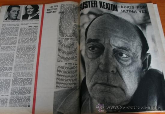 Coleccionismo de Revista Gaceta Ilustrada: GACETA ILUSTRADA 488 1966, ARMA DE KRUSCHEF, KARIM, ADIOS A BUSTER KEATON, CORONEL FOYER, KIM NOVAK - Foto 2 - 37825640