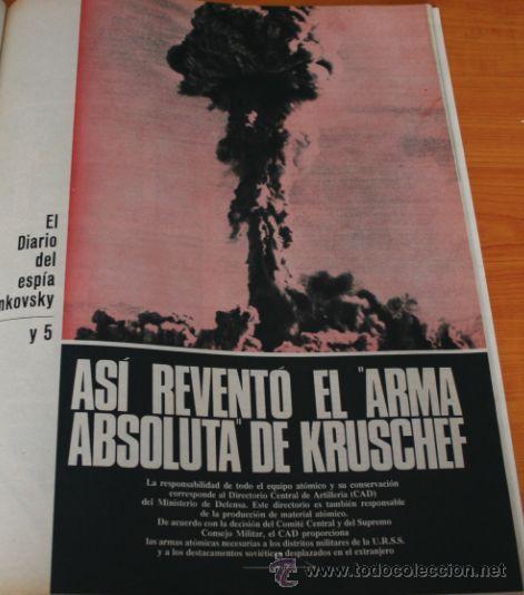 Coleccionismo de Revista Gaceta Ilustrada: GACETA ILUSTRADA 488 1966, ARMA DE KRUSCHEF, KARIM, ADIOS A BUSTER KEATON, CORONEL FOYER, KIM NOVAK - Foto 3 - 37825640