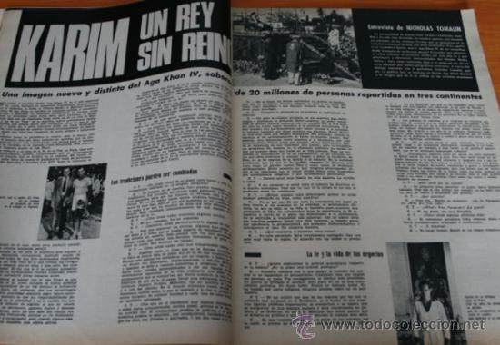 Coleccionismo de Revista Gaceta Ilustrada: GACETA ILUSTRADA 488 1966, ARMA DE KRUSCHEF, KARIM, ADIOS A BUSTER KEATON, CORONEL FOYER, KIM NOVAK - Foto 4 - 37825640