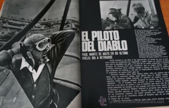 Coleccionismo de Revista Gaceta Ilustrada: GACETA ILUSTRADA 490 1966, ALFONSO XIII, MUERE PILOTO DEL DIABLO PAUL MANTZ, HABLA HIJO DE EICHMANN - Foto 4 - 37863852