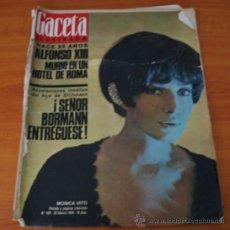Coleccionismo de Revista Gaceta Ilustrada: GACETA ILUSTRADA 490 1966, ALFONSO XIII, MUERE PILOTO DEL DIABLO PAUL MANTZ, HABLA HIJO DE EICHMANN. Lote 37863852