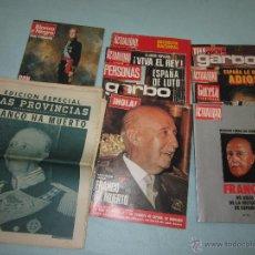 Coleccionismo de Revista Gaceta Ilustrada: LA VIDA DE FRANCO LOTE DE REVISTAS. Lote 40545349